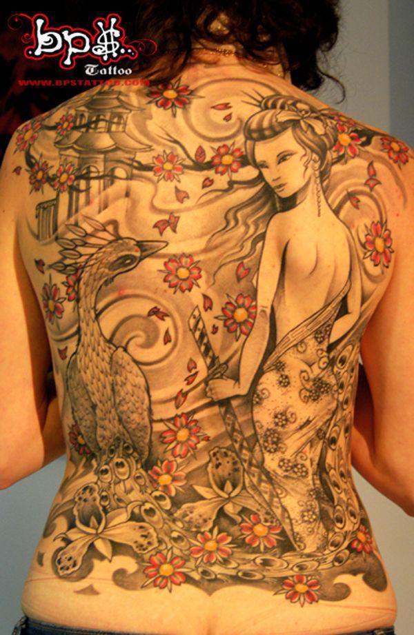 Geisha Fullback Tattoo