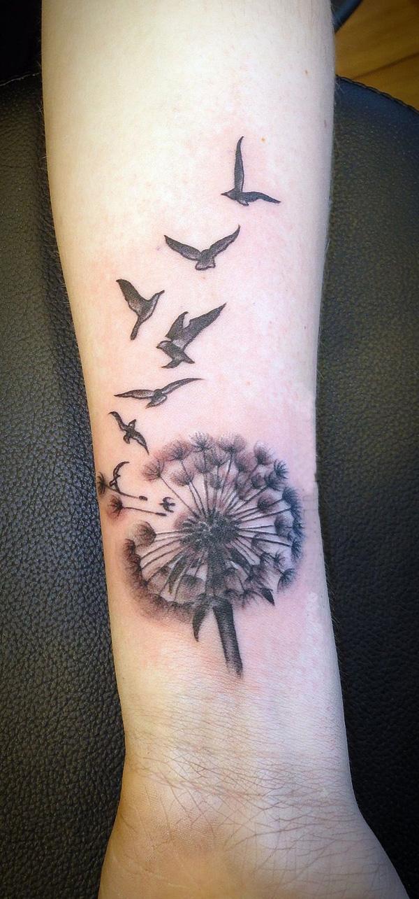 45 dandelion tattoo designs for women art and design. Black Bedroom Furniture Sets. Home Design Ideas