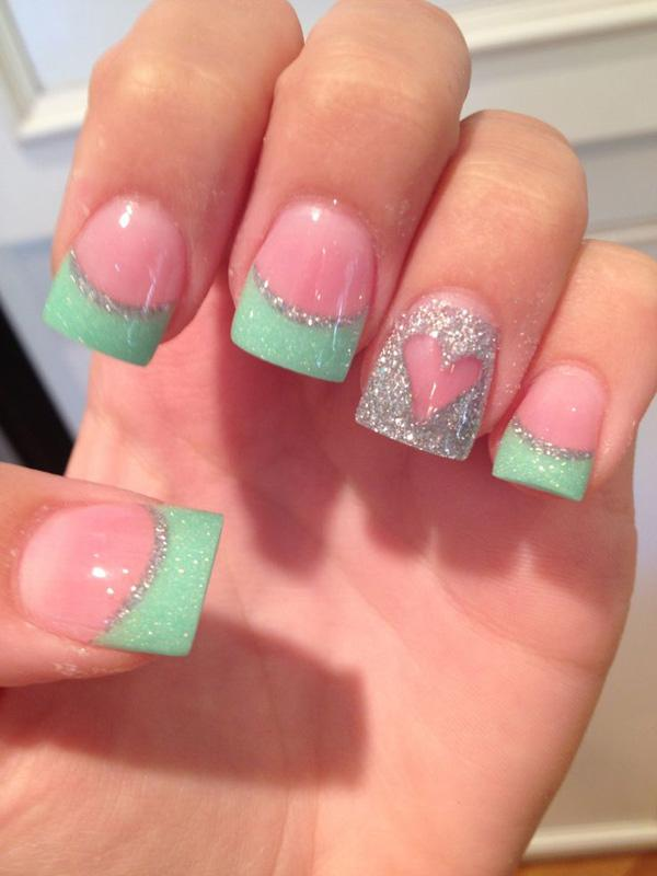70+ Heart Nail Designs | Art and Design