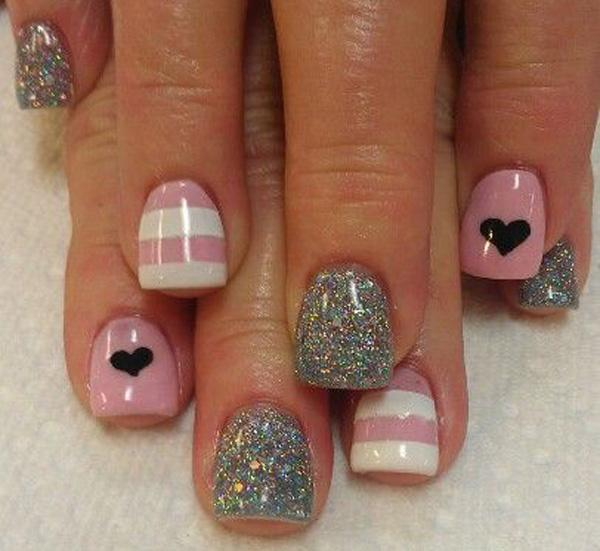 heart nail art - 70+ Heart Nail Designs <3 <3 ... - 70+ Heart Nail Designs Art And Design