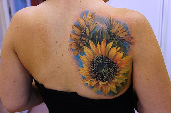 Sunflower Thigh Tattoo Sunflower Tattoo on Back 45