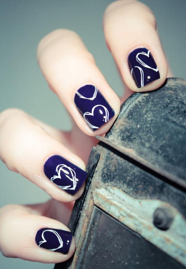 70 heart nail designs art and design heart nail art 70 heart nail designs 3 3 prinsesfo Gallery