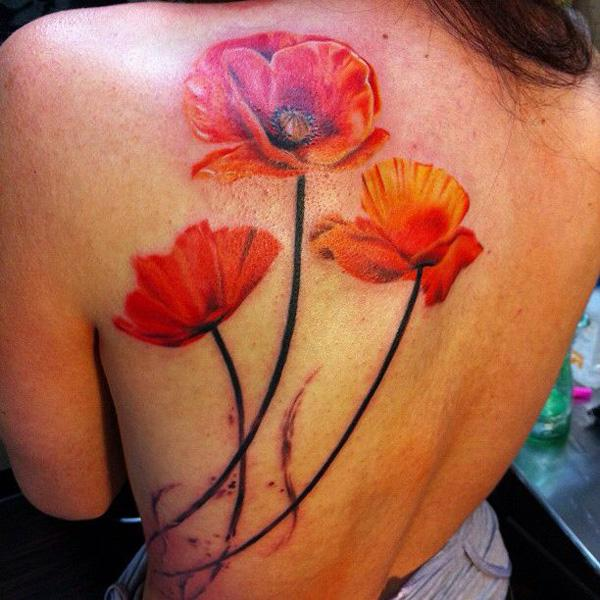 60 beautiful poppy tattoos art and design rh cuded com red poppy tattoo design red poppy tattoo design