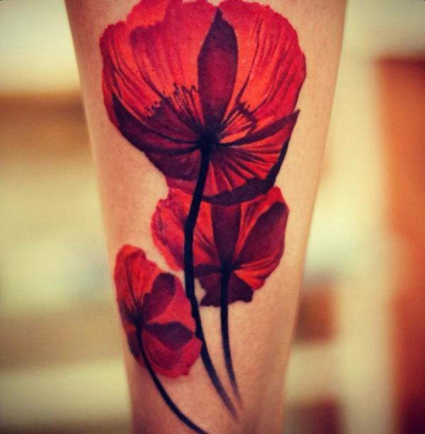 28 Poppy Tattoos Designs Ideas: 15 Poppy Tattoo Designs