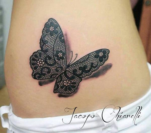 the gallery for lace butterfly tattoo