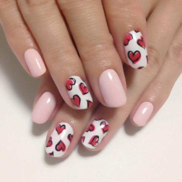 70 heart nail designs art and design heart nail art 70 heart nail designs 3 3 prinsesfo Choice Image