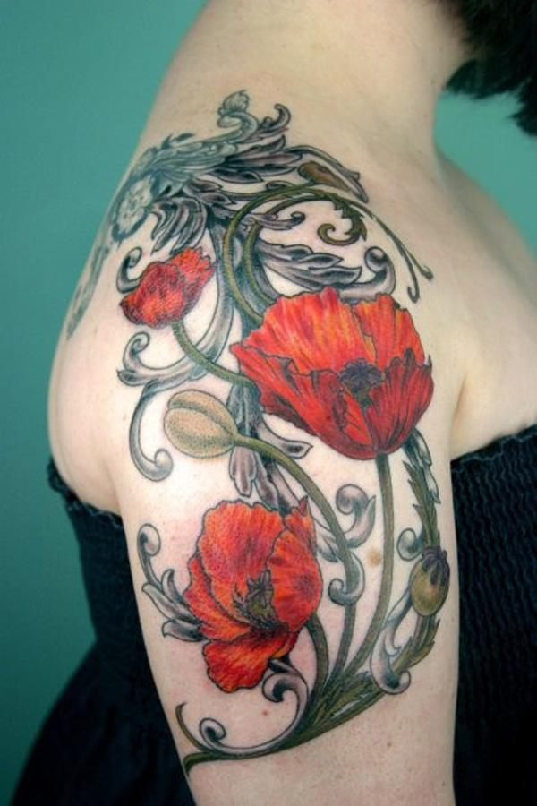 60 beautiful poppy tattoos art and design poppies tattoo 60 beautiful poppy tattoos 3 3 mightylinksfo