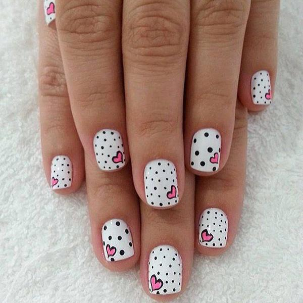 heart nail art - 70+ Heart Nail Designs <3 <3 ... - 70+ Heart Nail Designs Art And Design