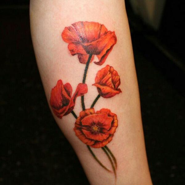 60 beautiful poppy tattoos art and design rh cuded com red poppy tattoo with coordinate red poppies tattoo