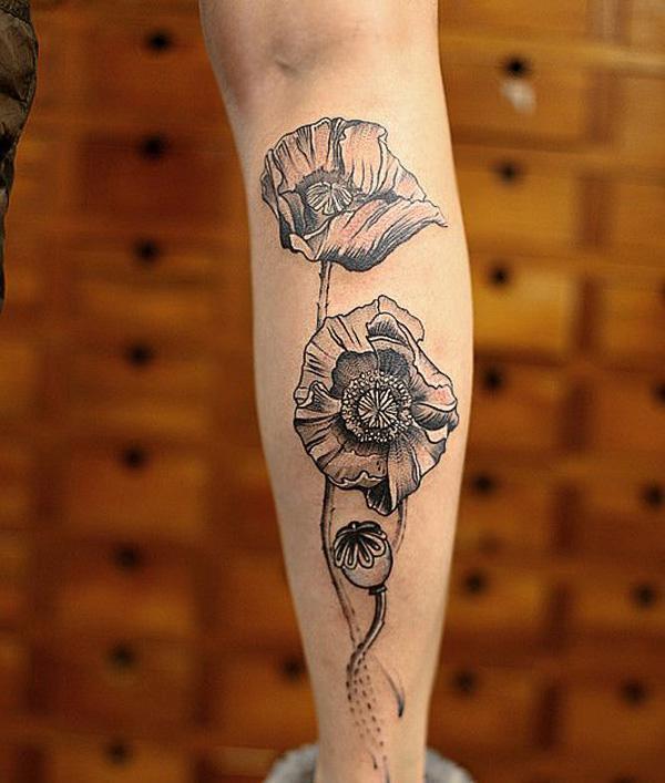 acd0d7535 Poppies tattoo - 60 Beautiful Poppy Tattoos <3 <3 ...