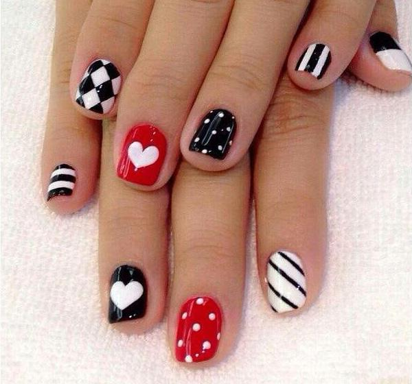70 Heart Nail Designs Art And Design