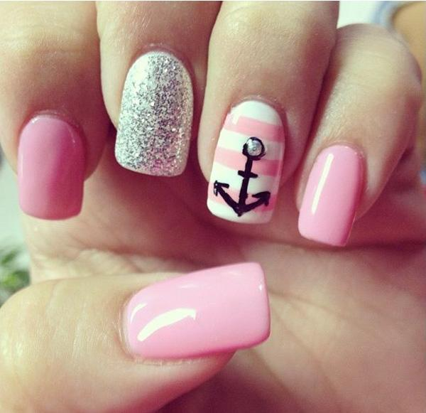 60 Cute Anchor Nail Designs - 60 Cute Anchor Nail Designs Art And Design