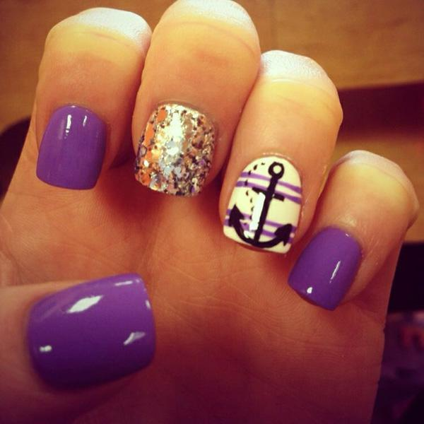 anchor nail art - 60 Cute Anchor Nail Designs ... - 60 Cute Anchor Nail Designs Art And Design