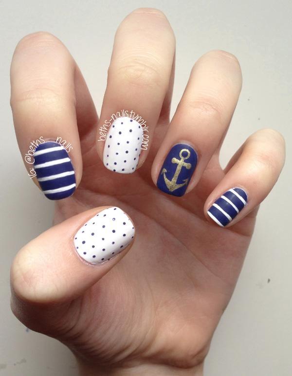 60 cute anchor nail designs art and design anchor nail art 60 cute anchor nail designs prinsesfo Gallery