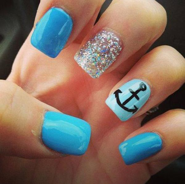anchor nail art - 60 Cute Anchor Nail Designs ... - 60 Cute Anchor Nail Designs Art And Design