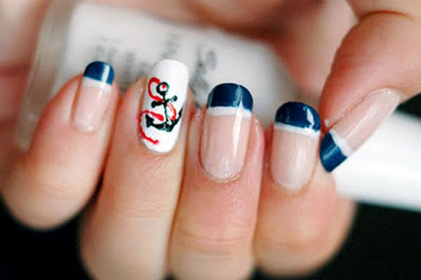 Cute Nail Designs With Anchors Anchor Nail Art 60 Cute