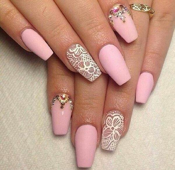 lace nail art - 45+ Lace Nail Designs <3 <3 ... - 45+ Lace Nail Designs Art And Design