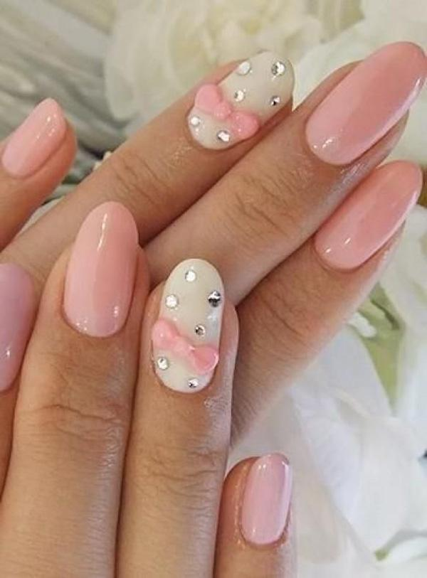 50 cute bow nail designs art and design bow nail art 50 cute bow nail designs 3 3 prinsesfo Images