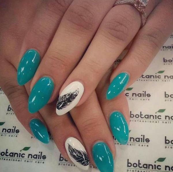 Feather Nail Art 9000 Summer Nail Designs