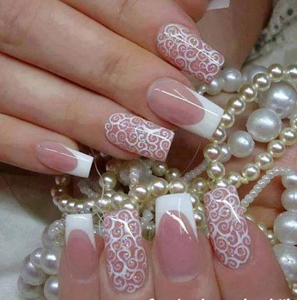 lace nail art - 45+ Lace Nail Designs <3 <3 ... - 45+ Lace Nail Designs Art And Design