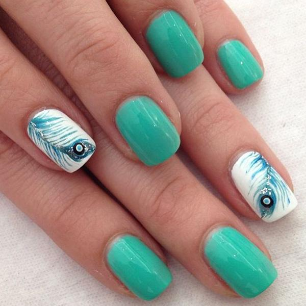 Feather nail art - 40+ Examples of Feather Nail Art <3 <3 ... - 40+ Examples Of Feather Nail Art Art And Design