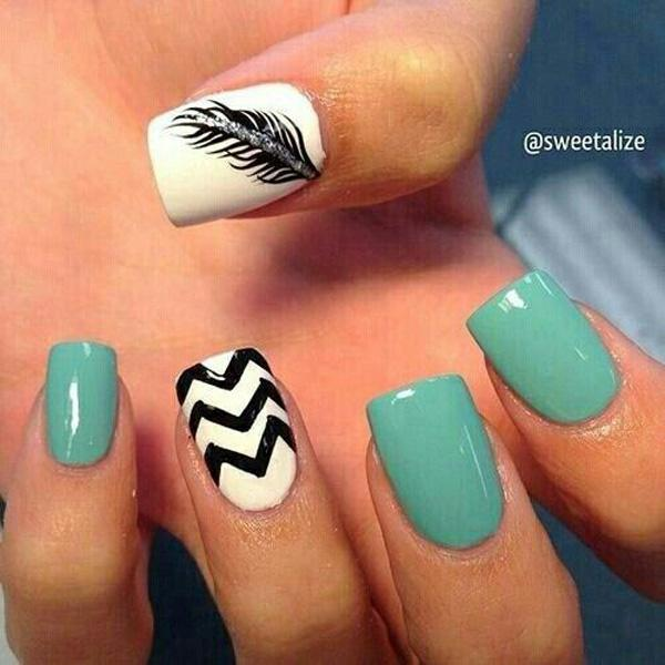 Feather Nail Art 40 Examples Of 3
