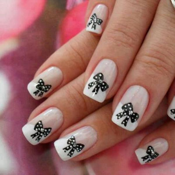 Bow Nail Art - 50+ Cute Bow Nail Designs <3 <3 ... - 50+ Cute Bow Nail Designs Art And Design