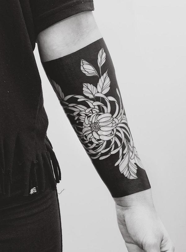 18f394c328a69 Chrysanthemum Tattoo on Forearm - 45 Beautiful Chrysanthemum Tattoo Ideas  ...