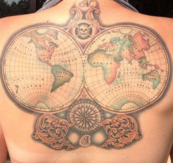 0b9a8a324 inked-mag-tattoo-by-annie-lloyd - 25 Awesome Map Tattoos ...