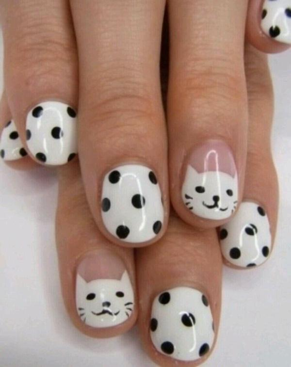 60 examples of black and white nail art art and design black and white nail art 60 examples of black and white nail art 3 prinsesfo Choice Image