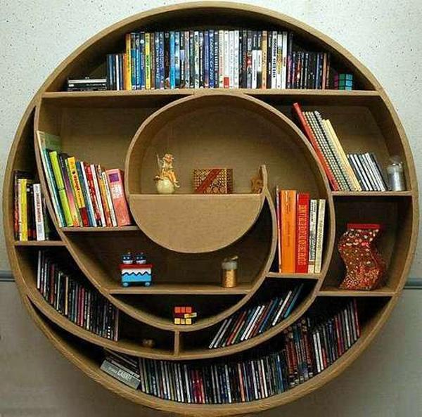 60 Creative Bookshelf Ideas | Art and Design 600 x 593