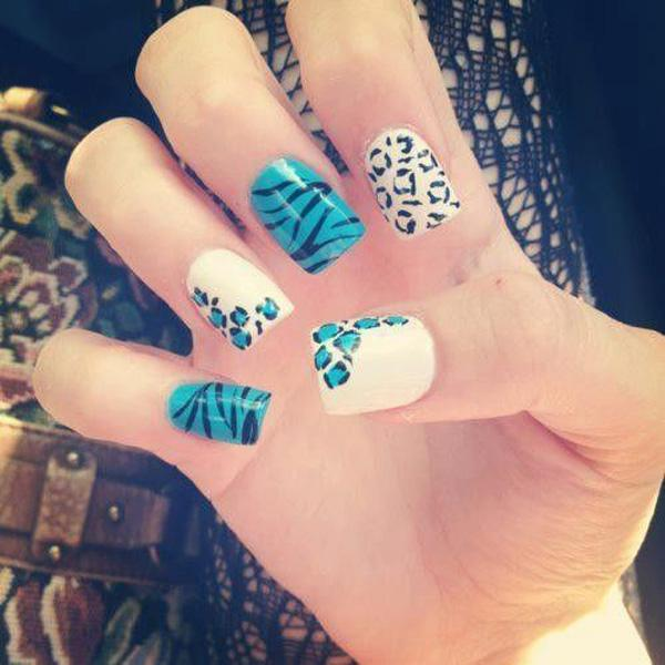 Cheetah Nail art - 50 Cheetah Nail Designs <3 <3 ... - 50 Cheetah Nail Designs Art And Design