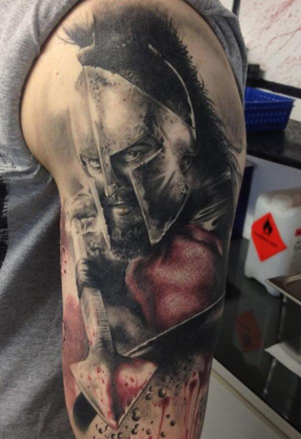 30 fighting warrior tattoos art and design