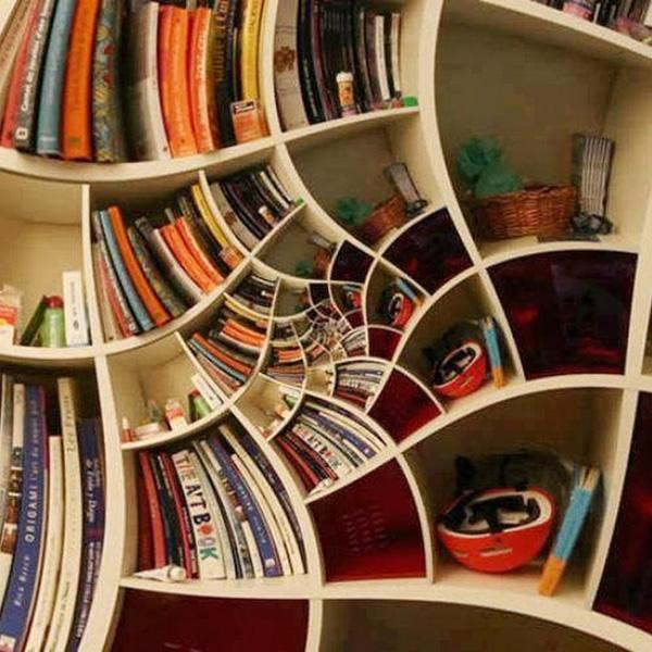 60 creative bookshelf ideas art and design - Wonderful bookshelf design in unique design and ideas ...