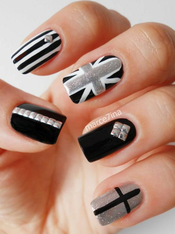Black and white nail art images best nails 2018 60 exles of black and white nail art design prinsesfo Image collections
