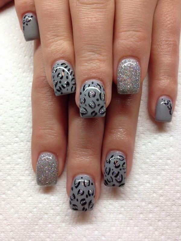 Cheetah Nail art - 50 Cheetah Nail Designs <3 <3 ... - 50 Cheetah Nail Designs Art And Design