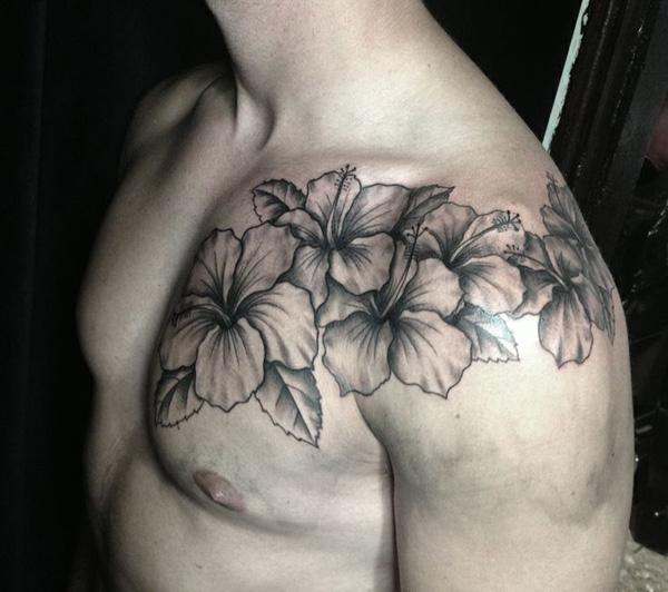40 Magnificent Hibiscus Flower Tattoos Art And Design - Flor-hawaiana-tattoo