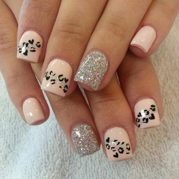 brown cheetah nails