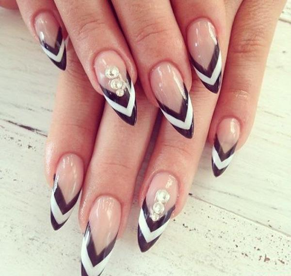 60 examples of black and white nail art art and design black and white nail art 60 examples of black and white nail art 3 prinsesfo Images