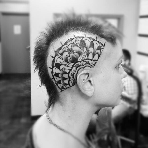 45 Crazy Tattoos On Head Art And Design