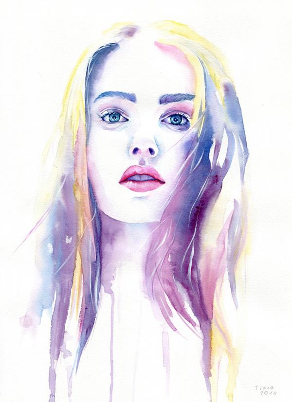 Watercolor Paintings By Cora And Tiana Art Design