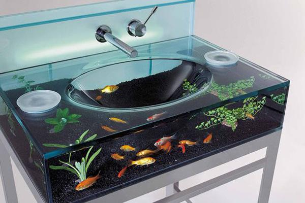 this bathroom sink design is perfect for animal lovers and those adoring proximity of nature - Bathroom Sink Design