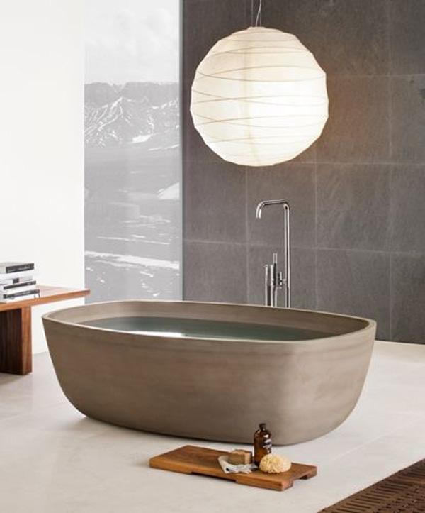 Inkstone hand-carved stone bathtub