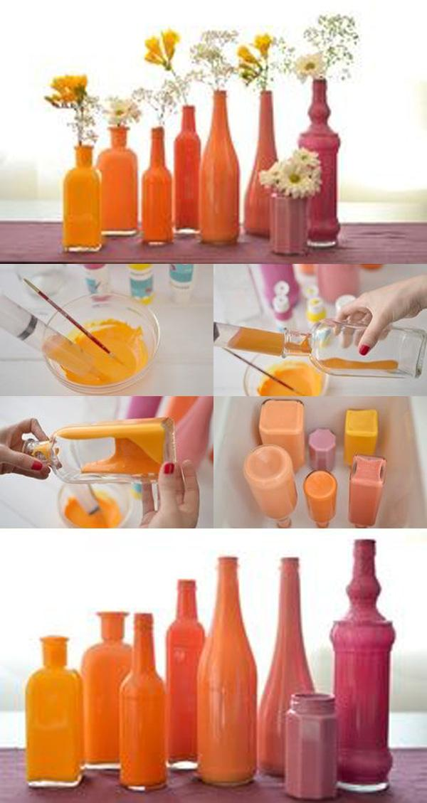 28 Simple Painted Bottles