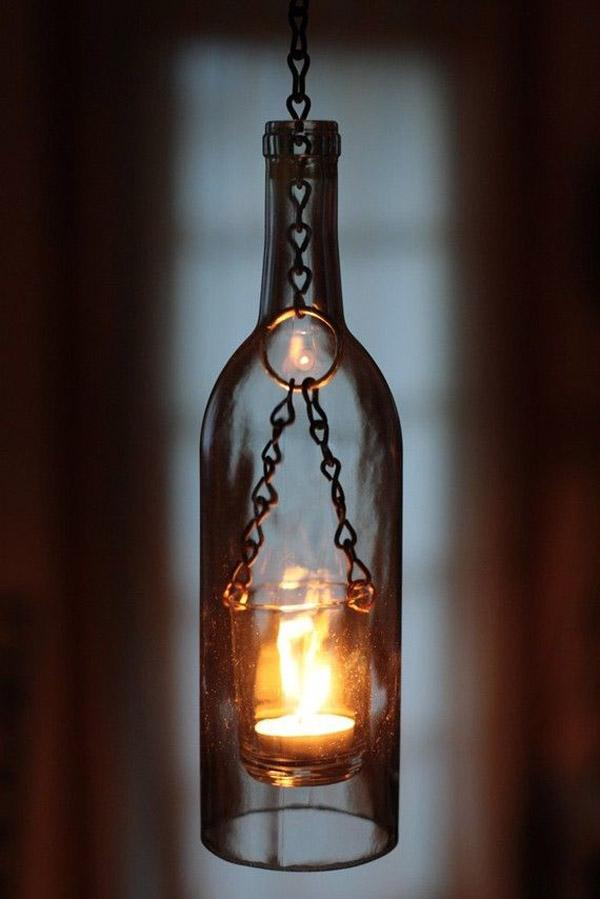 31 DIY ... wine bottle lantern