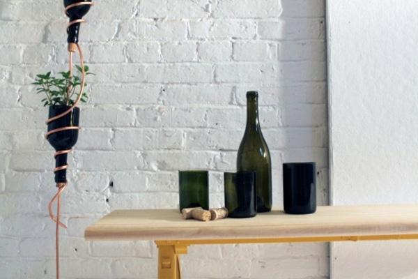 35  DIY Herb Garden Of Reused Wine Bottles