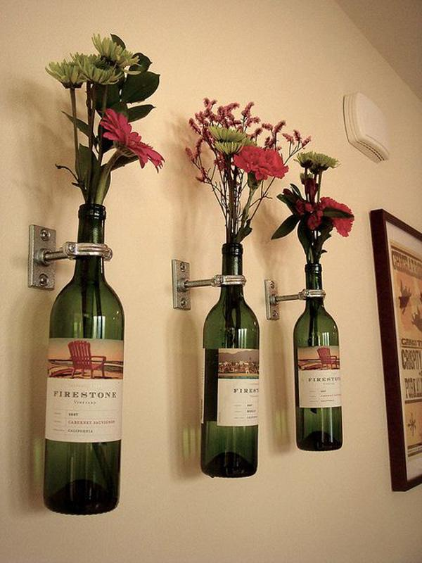 5  wine bottle vases