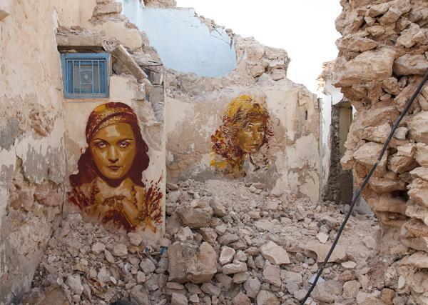 Djerbahood.Ruinhousedetail.Tunisia2014