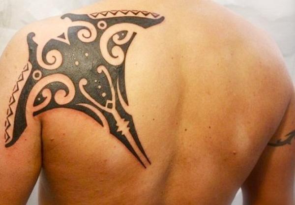 Manta Ray tattoo-11