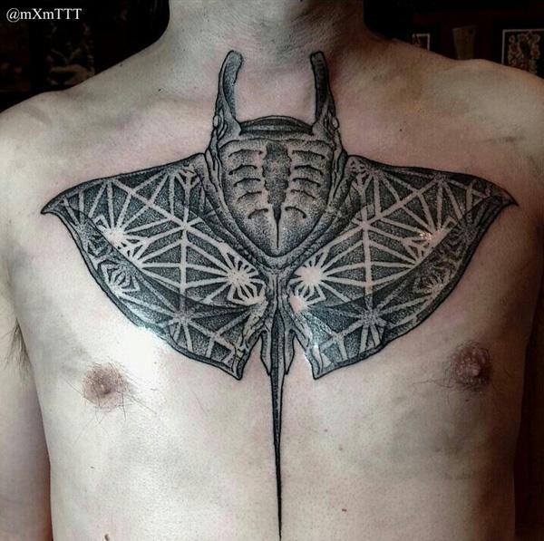 Manta Ray tattoo-23